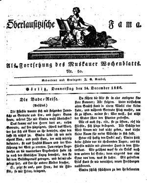 Oberlausitzische Fama vom 14.12.1826