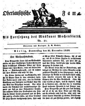 Oberlausitzische Fama on Dec 21, 1826