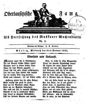 Oberlausitzische Fama vom 05.01.1831