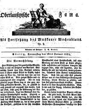 Oberlausitzische Fama vom 13.01.1831