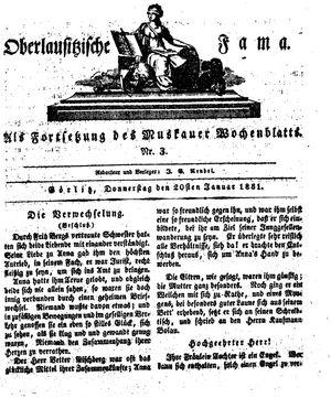 Oberlausitzische Fama vom 20.01.1831
