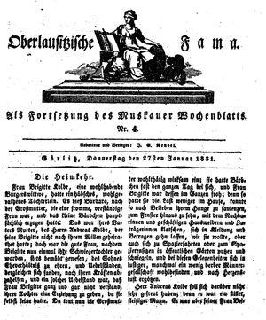 Oberlausitzische Fama vom 27.01.1831
