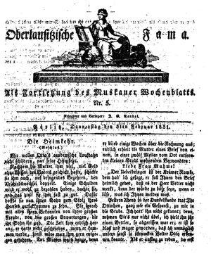 Oberlausitzische Fama vom 03.02.1831
