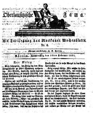 Oberlausitzische Fama on Feb 10, 1831