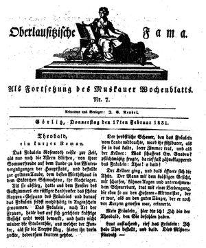 Oberlausitzische Fama vom 17.02.1831