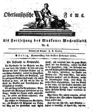 Oberlausitzische Fama vom 24.02.1831