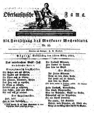 Oberlausitzische Fama vom 10.03.1831