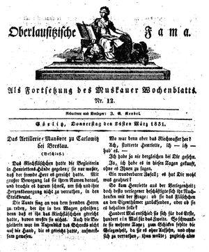 Oberlausitzische Fama vom 24.03.1831