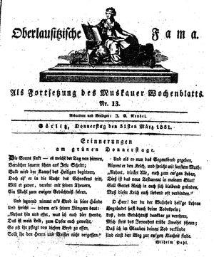 Oberlausitzische Fama vom 31.03.1831