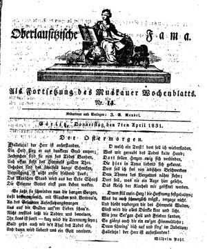 Oberlausitzische Fama on Apr 7, 1831