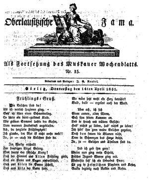Oberlausitzische Fama vom 14.04.1831