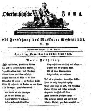 Oberlausitzische Fama vom 21.04.1831