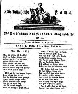 Oberlausitzische Fama vom 11.05.1831