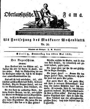 Oberlausitzische Fama vom 19.05.1831