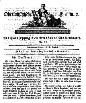 Oberlausitzische Fama vom 26.05.1831