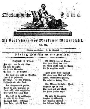 Oberlausitzische Fama vom 02.06.1831