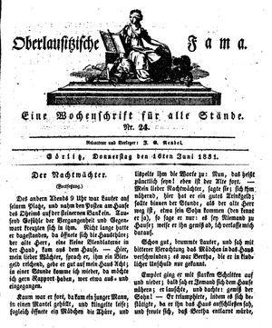Oberlausitzische Fama on Jun 16, 1831