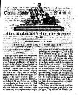 Oberlausitzische Fama vom 30.06.1831