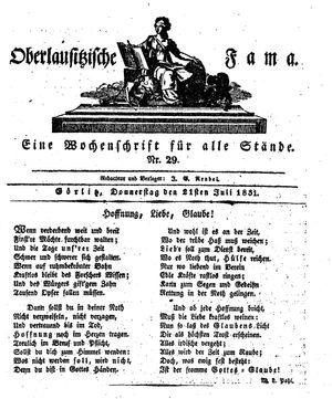 Oberlausitzische Fama vom 21.07.1831