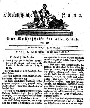 Oberlausitzische Fama vom 28.07.1831