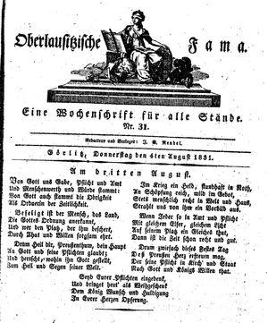 Oberlausitzische Fama on Aug 4, 1831