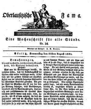 Oberlausitzische Fama vom 25.08.1831