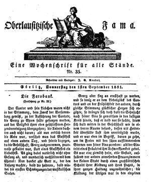 Oberlausitzische Fama vom 01.09.1831