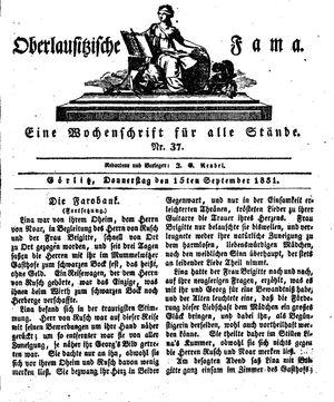 Oberlausitzische Fama vom 15.09.1831