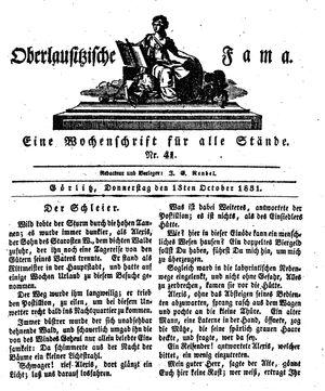 Oberlausitzische Fama on Oct 13, 1831