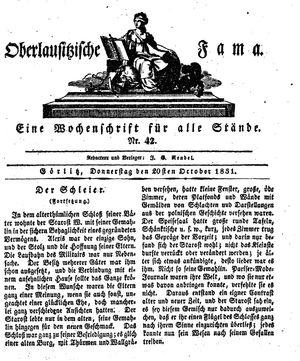 Oberlausitzische Fama vom 20.10.1831