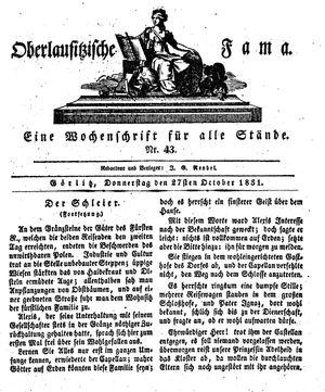 Oberlausitzische Fama on Oct 27, 1831