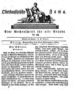 Oberlausitzische Fama vom 03.11.1831