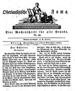 Oberlausitzische Fama vom 10.11.1831