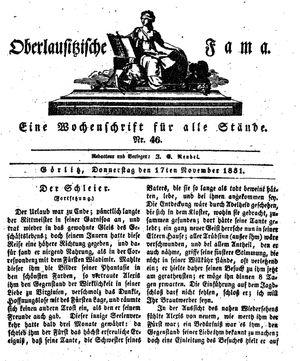 Oberlausitzische Fama on Nov 17, 1831