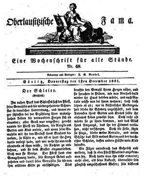 Oberlausitzische Fama vom 01.12.1831