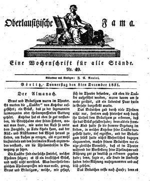 Oberlausitzische Fama vom 08.12.1831