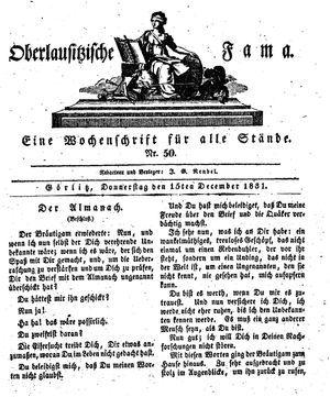 Oberlausitzische Fama on Dec 15, 1831