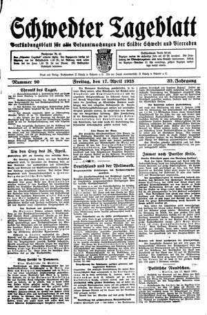Schwedter Tageblatt on Apr 17, 1925