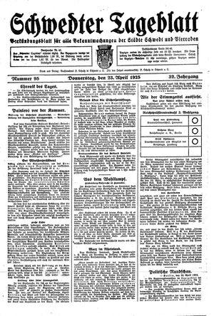 Schwedter Tageblatt vom 23.04.1925