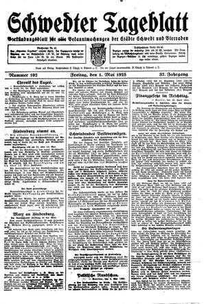 Schwedter Tageblatt vom 01.05.1925