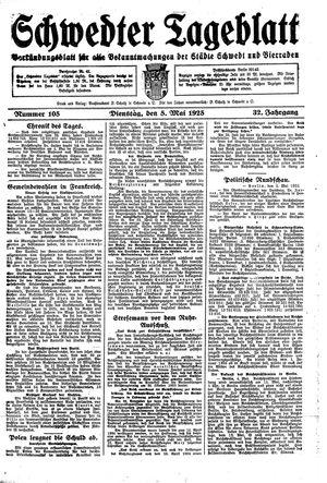 Schwedter Tageblatt vom 05.05.1925