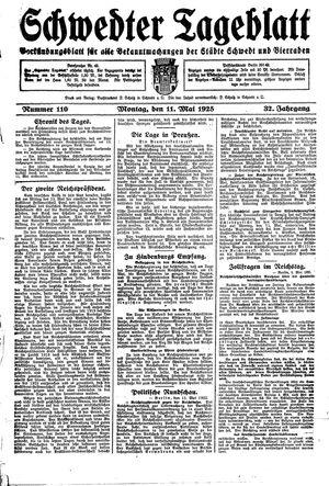 Schwedter Tageblatt vom 11.05.1925