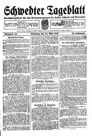 Schwedter Tageblatt vom 12.05.1925
