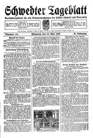 Schwedter Tageblatt vom 13.05.1925