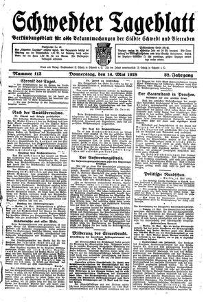 Schwedter Tageblatt vom 14.05.1925