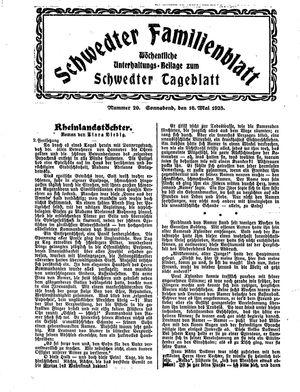Schwedter Tageblatt vom 16.05.1925