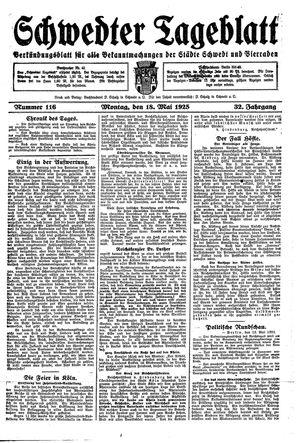 Schwedter Tageblatt vom 18.05.1925