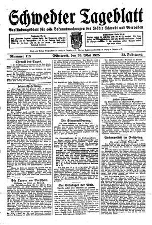 Schwedter Tageblatt on May 20, 1925