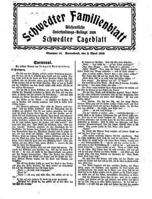 Schwedter Tageblatt on Apr 3, 1926