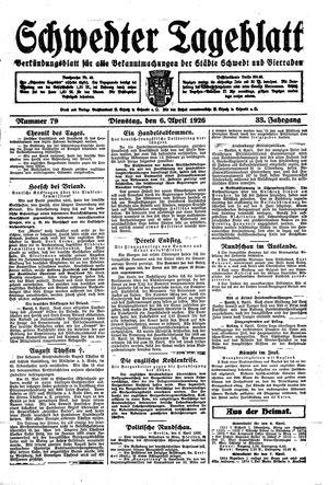 Schwedter Tageblatt vom 06.04.1926